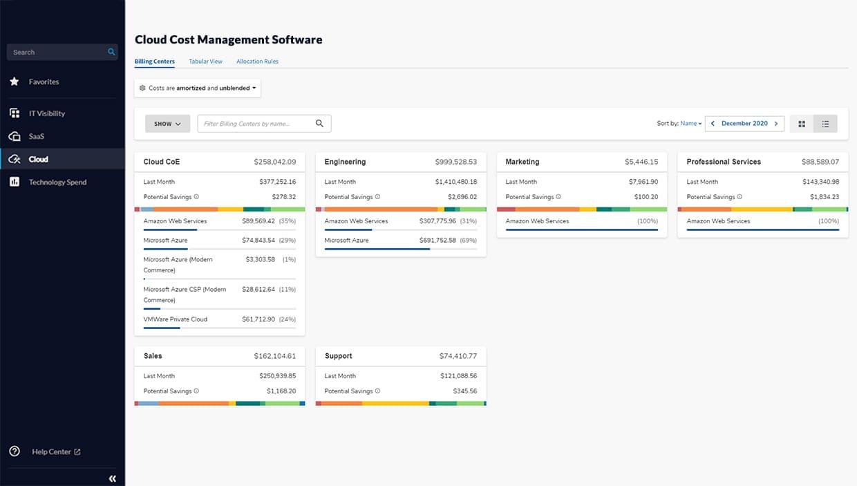 Cloud Cost Management Software Development